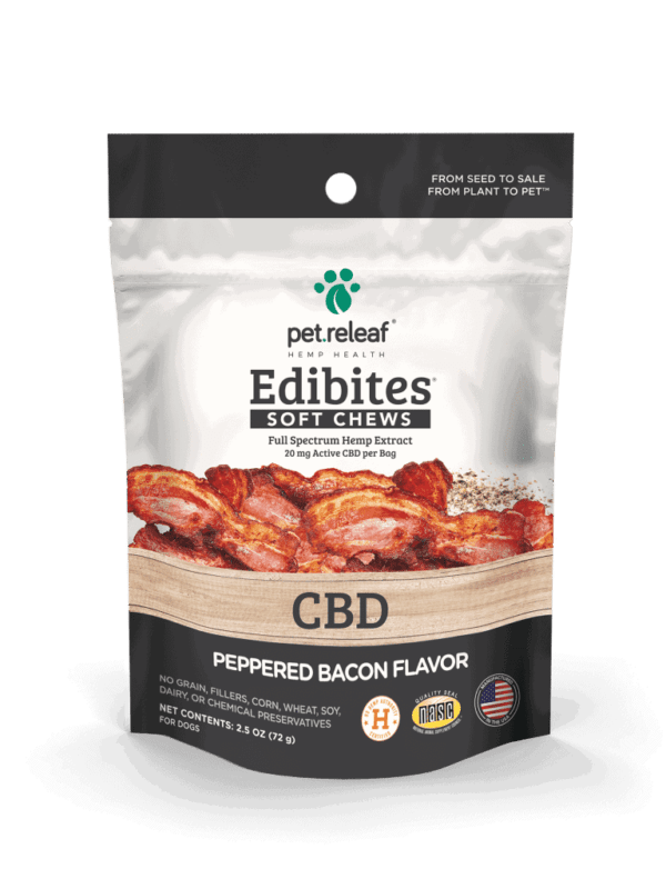 Bacon flavored CBD treats for dogs